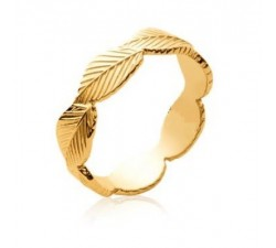 Leaves - Gold-Plated Ring