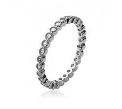 Band Zirconia - Silver Ring