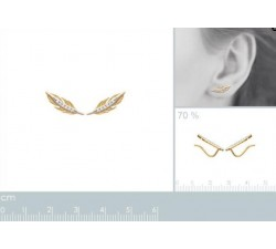 Feather - Gold-Plated Earrings-alt