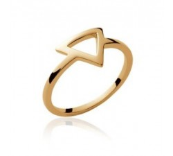 Triangle - Gold-Plated Ring