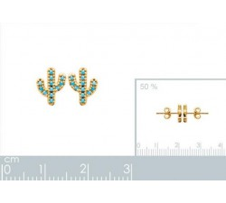 Cactus - Gold-Plated Earrings-alt