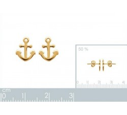 Anchor - Gold-Plated Earrings-alt