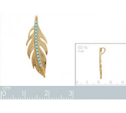 Feather - Gold-Plated Pendant-alt