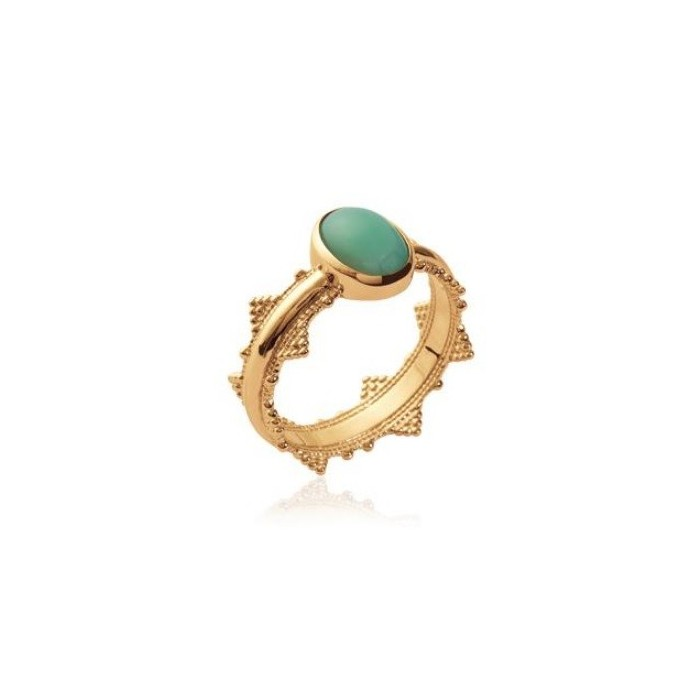 Crown Aventurine - Gold-Plated Ring