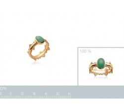 Crown Aventurine - Gold-Plated Ring-alt