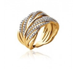 Leaf - Gold-Plated Ring