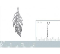 Feather - Silver Pendant-alt