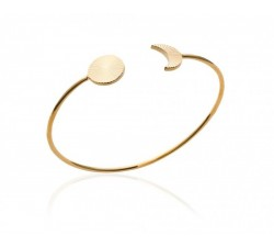 Moon and Sun - Gold-Plated Bangle