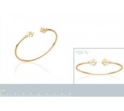 Anchor - Gold-Plated Bangle-alt