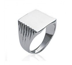 Signet - Square - Silver Ring