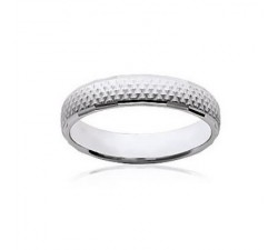 "Alliance ""Bergame"" Large - Bague Argent"