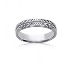 "Alliance ""Tarente"" Large - Bague Argent"