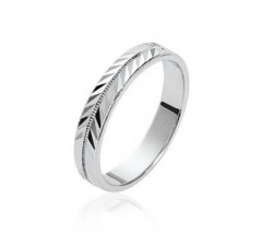"Alliance ""Ancône"" Large - Bague Argent"