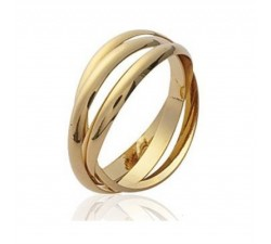 Intertwined Alliance - Gold-Plated Ring