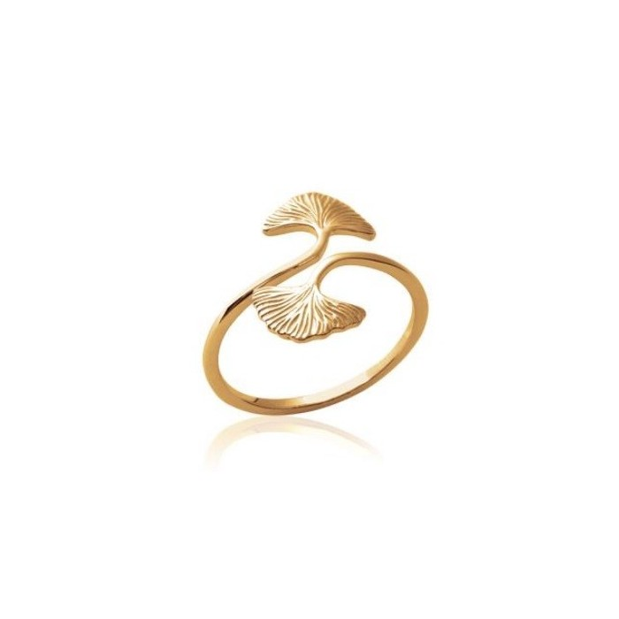 Ginkgo - Gold-Plated Ring