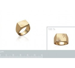 Signet - Chiseled Rectangle - Gold-Plated Ring-alt