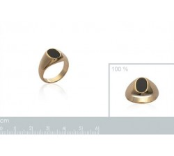 Signet - Black Oval - Gold-Plated Ring-alt