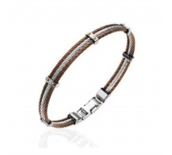 Cables - Brown - Stainless Steel Bracelet