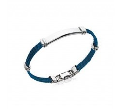 Cables - Blue - Stainless Steel Bracelet