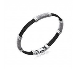 Cables - Black - Stainless Steel Bracelet
