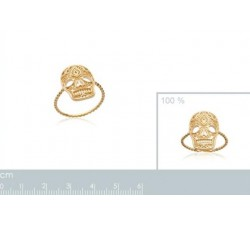 Calavera -  Gold-Plated Ring-alt