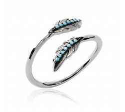 Feather - Silver Ring