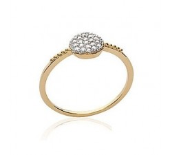 Medal White - Gold-Plated Ring