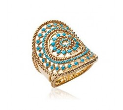 Sun Blue - Gold-Plated Ring