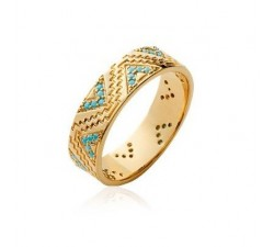 Inca - Gold-Plated Ring