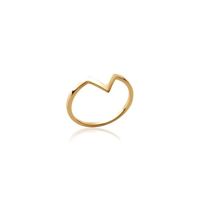 V - Gold-Plated Ring
