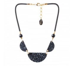 Black Light - 3 Element Necklace - Nature Bijoux