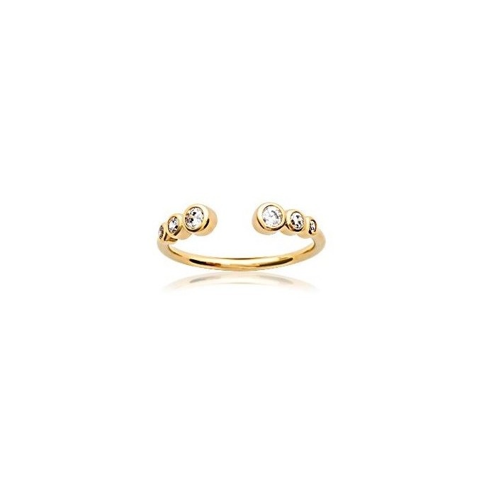 Open Zirconia - Gold-Plated Ring