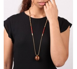 Cappuccino - Long Necklace - Nature Bijoux-alt