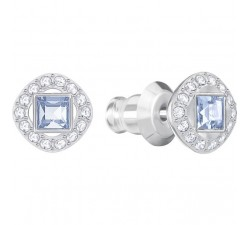 Angelic Square - Blue Silver - Stud Earrings -...