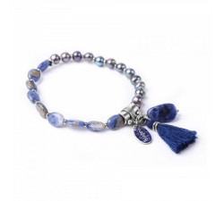 Les Duos - Pearls and Sodalite Bracelet - Nature Bijoux
