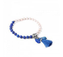 Les Duos - Pearls and Lapis Lazuli Bracelet - Nature...