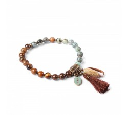 Les Duos - Turquoise and Tiger Eye Bracelet - Nature...