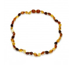 Baby - Multi Smooth Amber - Teething Necklace - Natalex