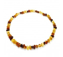 Pebbles - Multicolored Amber - Necklace - Natalex