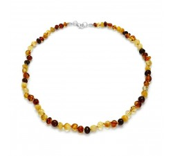 Beads - Multicolored Amber - Necklace - Natalex
