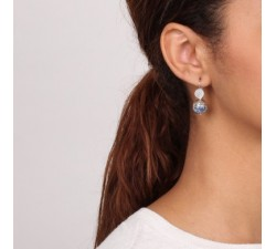 Cyclades - Round Pearl Earrings - Nature Bijoux-alt