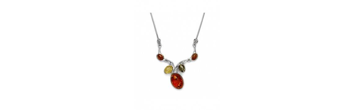Necklaces with Baltic amber stones - Azuline