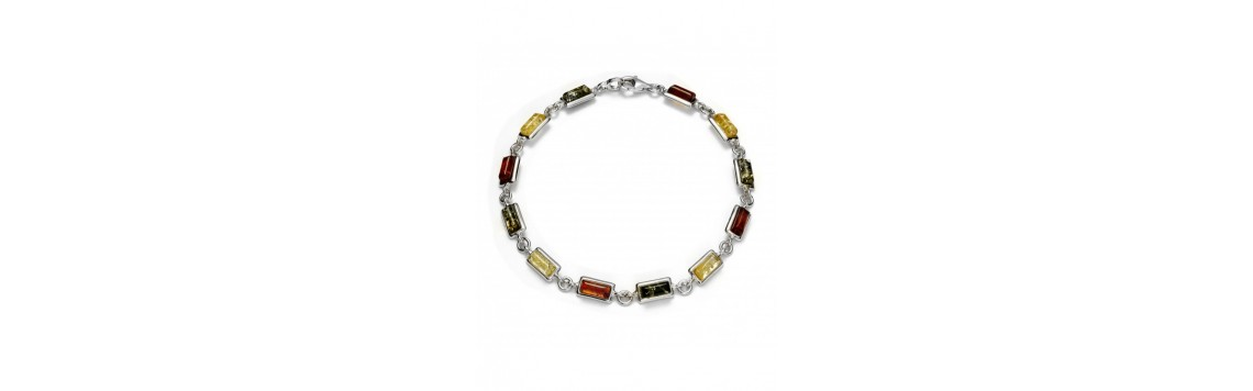 Bracelets with Baltic amber stones - Azuline