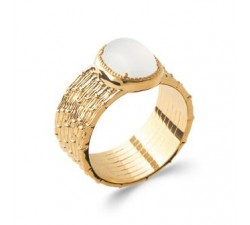 Brushed - Gold-Plated Ring