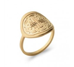 Cross - Gold-Plated Ring