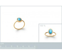 Cabochon Blue - Gold-Plated Ring-alt