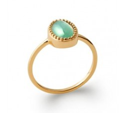 Cabochon Aventurine - Gold-Plated Ring