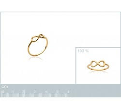 Infinity - Gold-Plated Ring-alt