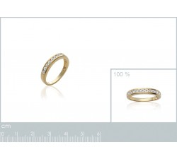 Band Zirconia - Gold-Plated Ring-alt