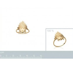 Indian Chief - Gold-Plated Ring-alt